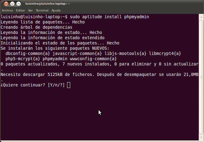 instalar phpmyadmin